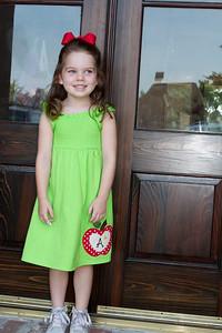 "Anna's first day of ""Kindergarten"" at Montessori School of Baton Rouge"