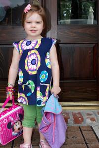 Ellen's first day at Montessori School of Baton Rouge