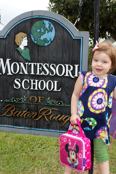 Ellen's first day at Montessori School of Baton Rouge