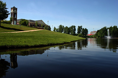 A nice view of the Lake Hollifield on a summer day.