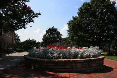 One of the many beautiful flower displays on the Gardner-Webb University campus.