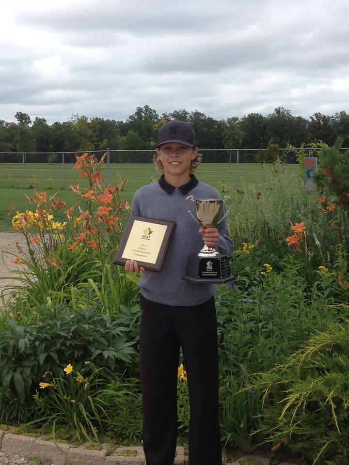 Men's Junior Bantam Champion - Zach Wytinck, Glenboro Golf and Country Club