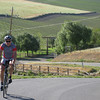 David Young leading the way up the Ballard climb