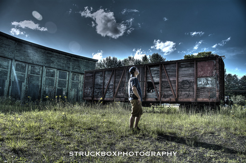 Abandoned Roundhouse and Boxcar<br /> Bartlett NH