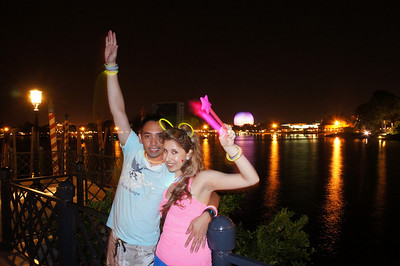 Day 1 evening - EPCOT food & wine festival (just before fireworks)