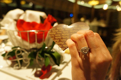 Ring -- delivered by Cinderella's coach (background) -- on the appropriate finger.