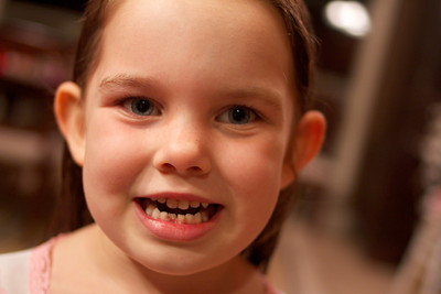 September 2013 - Anna lost her first tooth!