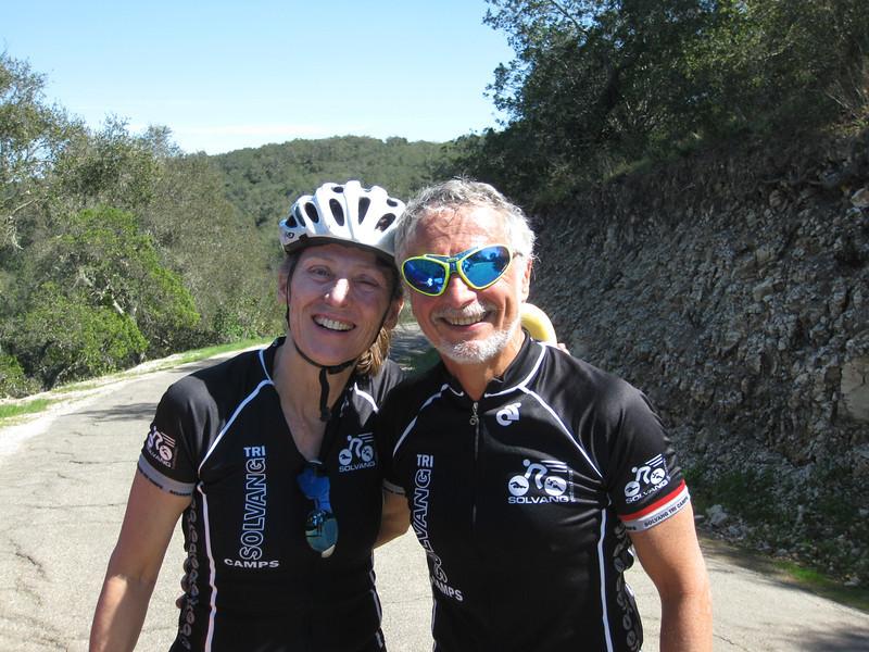 The Viviani's on Drum Canyon summit - always a smile