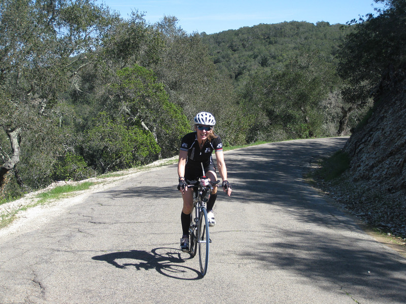 Anne Viviani from Arlingon VA on her way to getting the Drum Canyon 'Ride of the Day award'