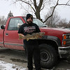 Danny with his 1st place walleye from the Whitmore Lake fishing tournament.