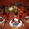 12-7-13 Christmas Dinner - Party Table