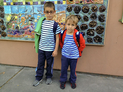 Back to school for Noirmoutier sailors. Rémy's first day!