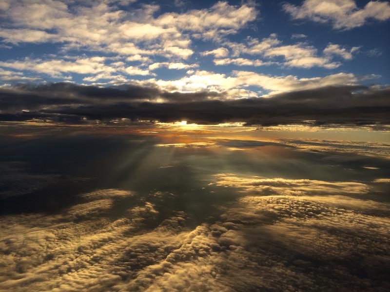 11-9-13 Sunset on UAL
