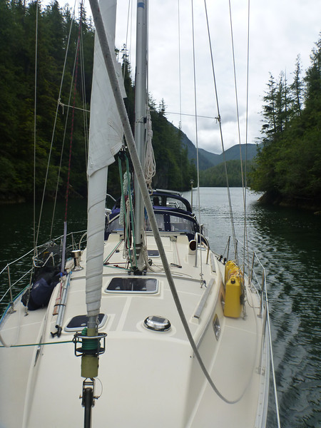 Navigating the entrance to Klaskish Basin on the west coast of Vancouver Island.