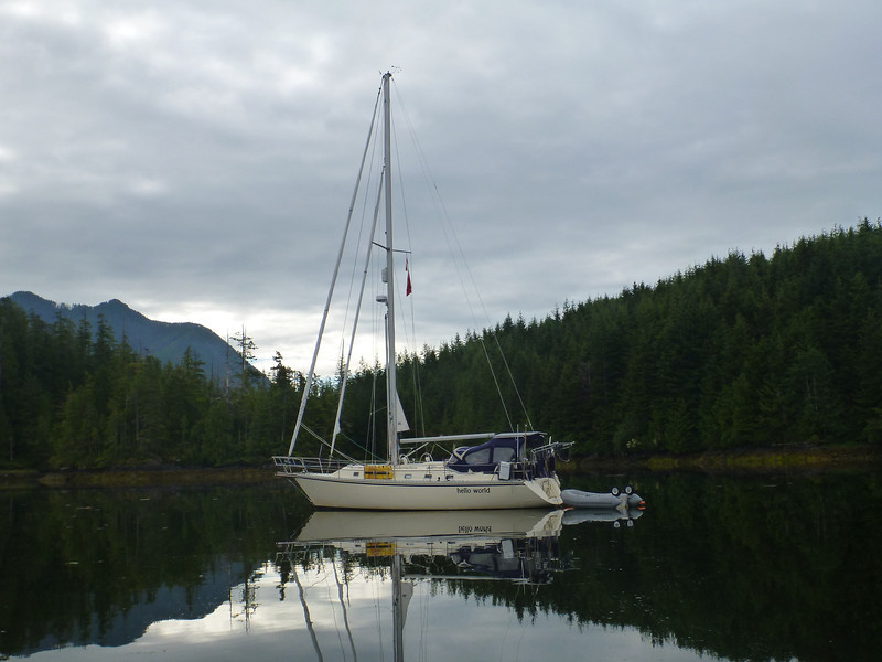 Anchored in the Bunsby Islands off the west coast of Vancouver Island