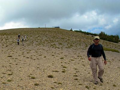 Retreat from north peak