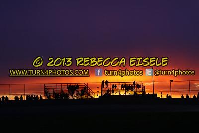 Sunset 05-25-13 Evans Mills Speedway
