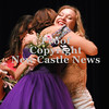 2014 Winner, Miranda Haley Nichols, is congratulated by 2013 Distinguished Young Woman,  Jenna Natale.