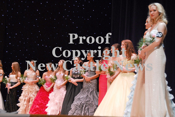 Finalists assemble for the Lawrence County Distinguished Young Woman 2014 awards ceremony.