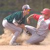 Erica Galvin/NEWS<br /> Laurel's Ray Scala tags out Zack Scott during a steal in the second inning.