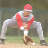 Erica Galvin/NEWS<br /> Neshannock's John Conglose fields a ground ball.
