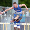 Erica Galvin/NEWS<br /> Kevin Court leaps over a hurdle during the 300 meter hurdle event.