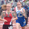Erica Galvin/NEWS<br /> Mohawk's Breyona Wagner and Union's Janis McGill participate in the1600 meter run.