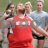 Erica Galvin/NEWS<br /> Neshannock's Anna Frengel throws the shot put during the WPIAL Qualifier at Shady Side Academy.