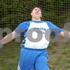 Erica Galvin/NEWS<br /> Union's Curtis Caughey throws the discus 119.5 feet.