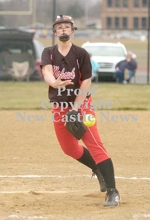 Erica Galvin/NEWS<br /> Jaki Bender delivers a pitch in the third inning.