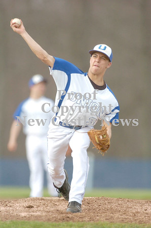 Erica Galvin/NEWS<br /> Union pitcher Anthony Rush delivers a pitch to an awaiting batter in the fourth inning.