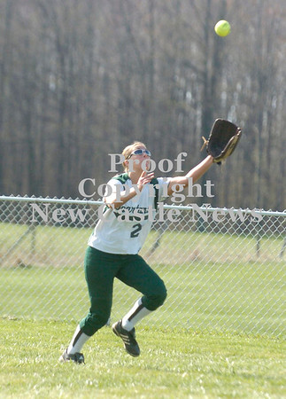 Erica Galvin/NEWS<br /> Laurel's Kalie Trott eyes a fly ball in the third inning.