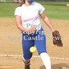 Erica Galvin/NEWS<br /> Kara Sainato pitches to a New Castle batter.