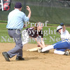 Erica Galvin/NEWS<br /> New Castle's Shannon Dudich tags out Ellwood City base runner Francesca Nardone