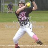 Erica Galvin/NEWS<br /> Carley Aven winds up to deliver a pitch in the fourth inning.