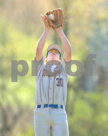 Erica Galvin/NEWS<br /> Cody Gardner catches a fly ball in the second inning.