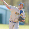 Erica Galvin/NEWS<br /> Travis Brumbaugh delivers a pitch to a Sharpsville batter in the first inning.