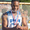 Erica Galvin/NEWS<br /> Union's Eli Williams reacts after finding out he qualified for state meet in the 400-meter dash.