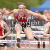 Erica Galvin/NEWS<br /> Maria Fleck clears a hurdle during her 100 meter hurdle event.