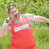 Erica Galvin/NEWS<br /> Neshannock's Anna Frengel tosses the shot put.