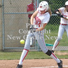 Erica Galvin/NEWS<br />  Alexandra Fischer hits a single in the first inning.