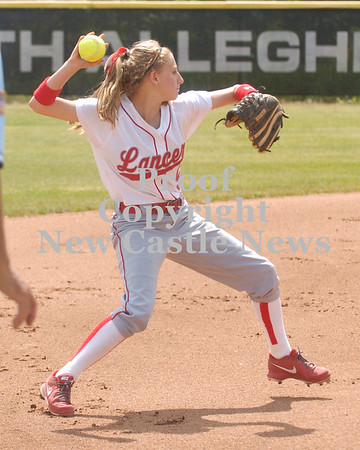 Erica Galvin/NEWS<br /> Jamie Graziani throws to first base after fielding a ground ball.