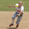 Erica Galvin/NEWS<br /> Neshannock short stop Jamie Graziani dives for a catch in the fourth inning.