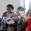 "Courtney Caughey-Stambul/NEWS<br /> Congregation members sing along to ""Life Every Voice and Sing"" on Sunday."