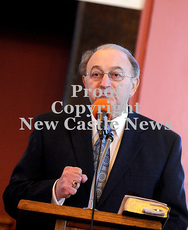 Courtney Caughey-Stambul/NEWS<br /> New Castle Mayor Anthony Mastrangelo speaks.