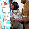 Courtney Caughey-Stambul/NEWS<br /> Pastor Diane Young sings with the congregation on Sunday.