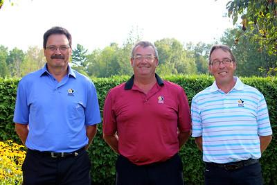 Provincial Senior Men - Bill Moslenko, Garth Collings & Brent Armstrong