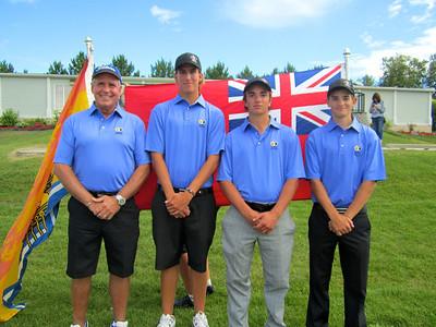 Provincil Junior Men - Dennis Prystayko (non -  playing captain), Travis Fredborg, Steven Young & David Nelson