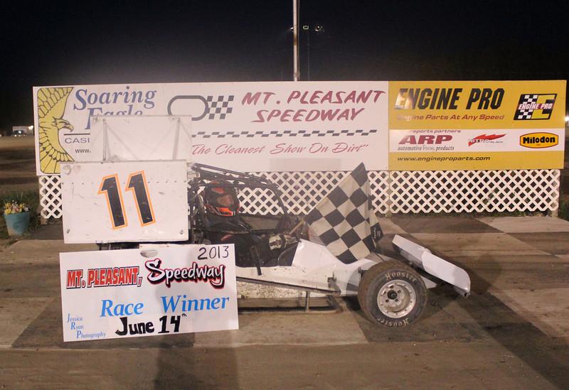 MORA Sprints Feature Winner #11 Doug Roush.