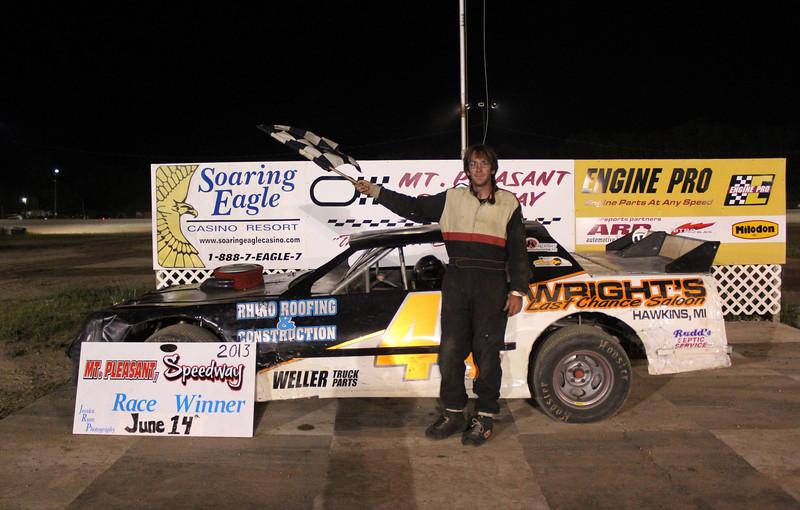 Brad Penn Performance Racing Oil Street Stock Feature Winner #44 Josh Frye.